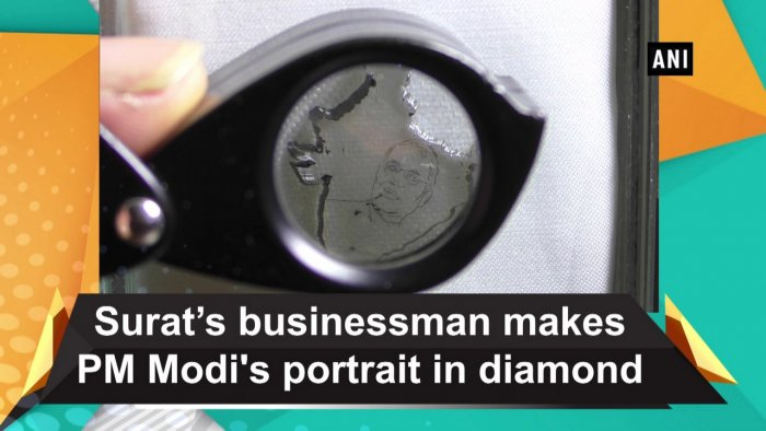 """After working five hours daily on this particular diamond, in about two months, the diamond was converted into a map,"" Akash Salia told ANI."