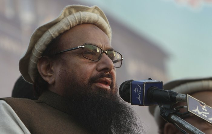 Saeed was produced at the ATC under tight security. Journalists were not allowed to enter the court premises for the coverage of the proceedings. (AP Photo)