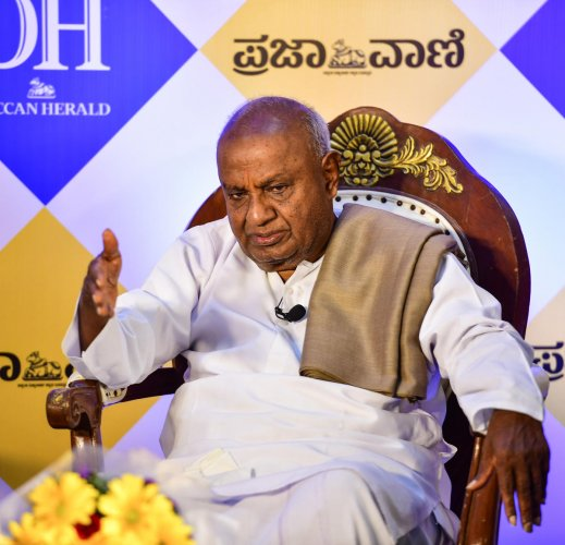 JD(S) supremo H D Deve Gowda. (DH Photo)