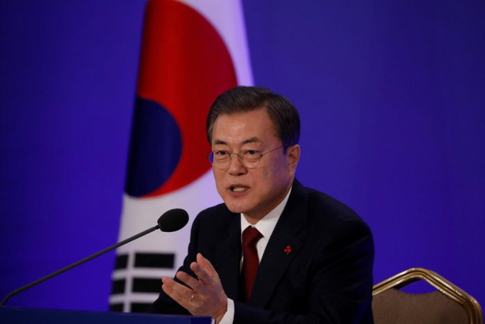 Moon has long championed engagement with Pyongyang and used the South's 2018 Winter Olympics to build a diplomatic rapprochement that climaxed with a landmark summit between Kim Jong Un and US President Donald Trump in Singapore. cREDIT: REUTERS