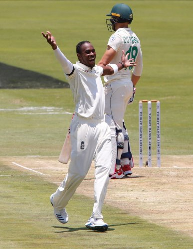 """The Barbados-born bowler tweeted after the match it was """"a bit disturbing hearing racial insults today whilst battling to help save my team"""". (Reuters Photo)"""