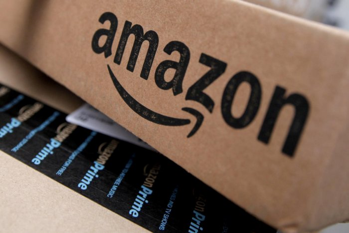 Amazon boxes are seen stacked for delivery. (REUTERS photo)