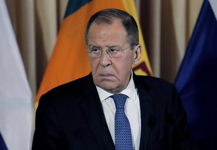 The Russian minister also slammed the US for what he called disregarding international rules and norms while selectively talking about rules-based global order for its self interests. (Reuters Photo)