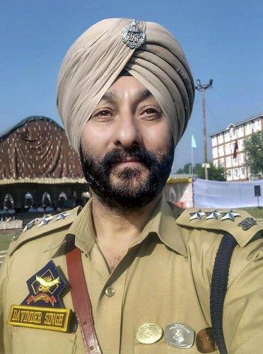 Deputy Superintendent of Jammu and Kashmir Police Davinder Singh. (PTI Photo)