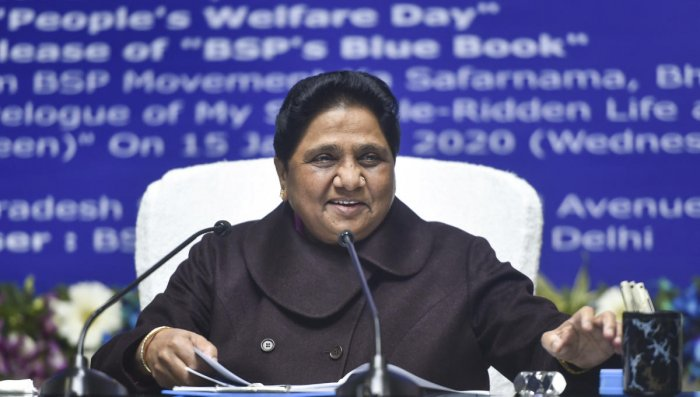 Mayawati has asked to concentrate efforts in unauthorised colonies of rural Delhi and areas where people from Purvanchal -- East Uttar Pradesh and parts of Bihar -- are in a majority. (PTI Photo)