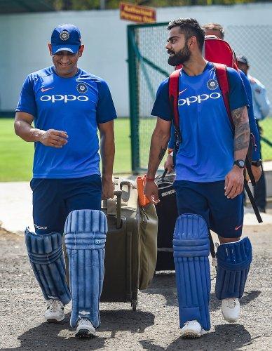 Indian skippers, MS Dhoni and Virat Kohli. (PTI Photo)