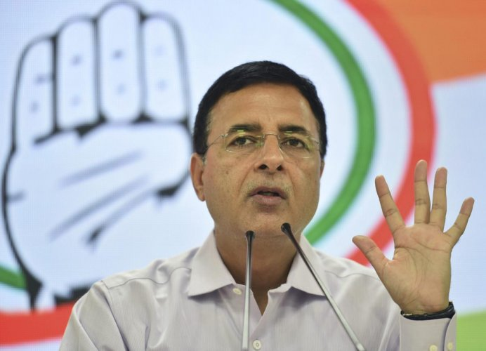 Congress chief spokesman Randeep Singh Surjewala accused the government of flouting the Defence Procurement Procedure norms in allowing Adani Defence-Hindustan Shipyard Limited (Adani-HSL) to bid for the submarine project. (PTI Photo)