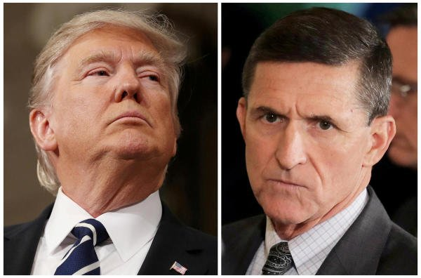 US President Donald Trump and Michael Flynn. (Reuters Photo)