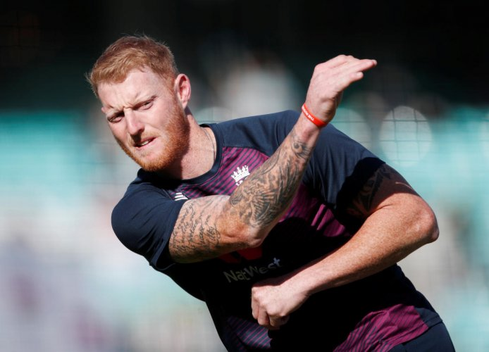 England's Ben Stokes during the warm-up before the match. (Reuters photo)