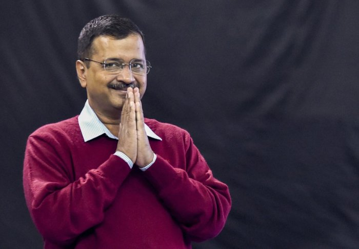 AAP national convenor and Delhi Chief Minister Arvind Kejriwal attends a book launch function. (PTI PHOTO)