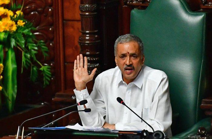 Assembly Speaker Vishweshwar Hegde Kageri. (DH Photo)