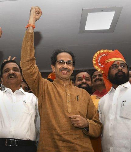 Maharashtra CM Uddhav Thackeray led Shiv Sena has warned the Centre of a possible public revolt on its existing policies. (PTI Photo)
