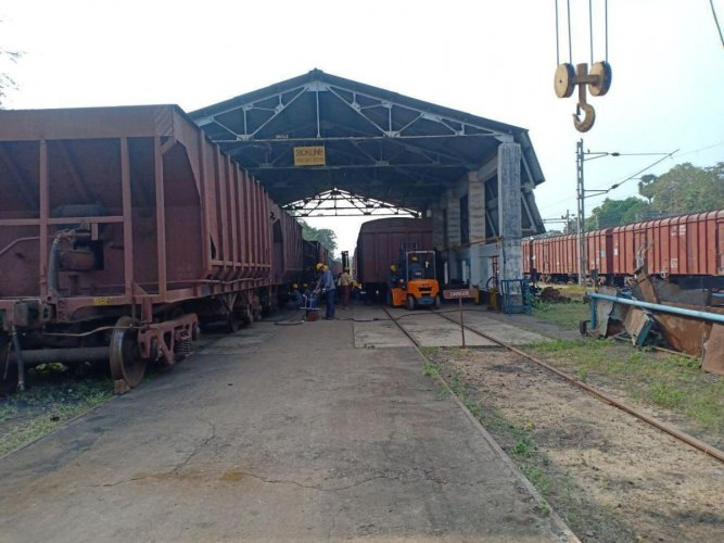 The Carriage and Wagon Depot at Mangaluru Junction.