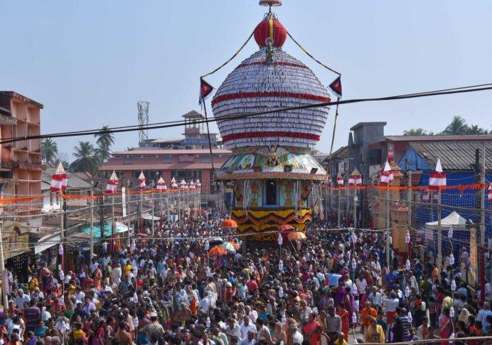 Brahmarathotsava was held at Sri Krishna Mutt in Udupi on Wednesday.