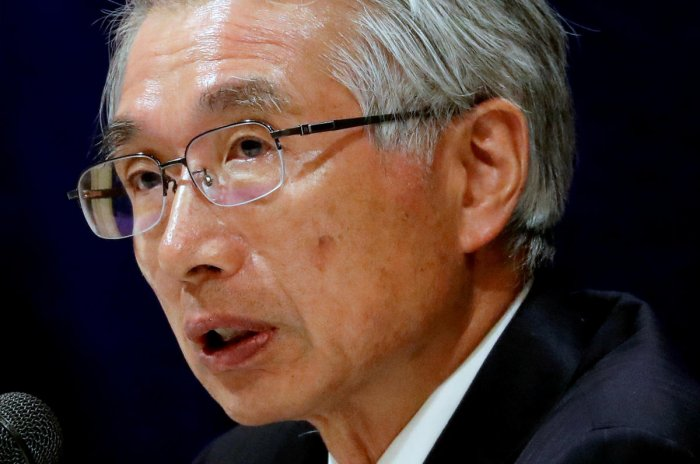 Junichiro Hironaka, chief lawyer of the former Nissan Motor chairman Carlos Ghosn, attends a news conference (REUTERS photo)