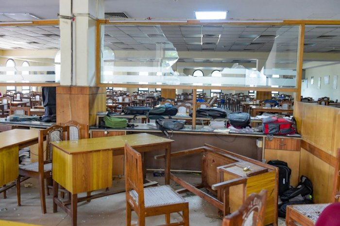 Jamia Millia Islamia University library vandalised on Sunday night during a clash between police and students, in New Delhi, Wednesday, Dec. 18, 2019. Jamia Teachers Association and students have been agitating against the Citizenship Amendment Act (CAA). Credit: PTI