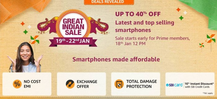 Amazon Great Indian Sale 2020 Oneplus 7 Iphone Xr And More Get