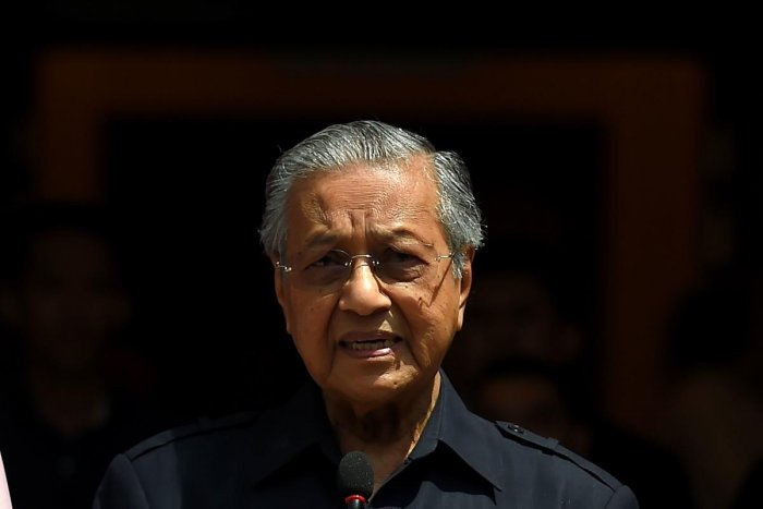 """""""We are too small to take retaliatory action,"""" Mahathir told reporters in Langkawi, a resort island off the western coast of Malaysia."""