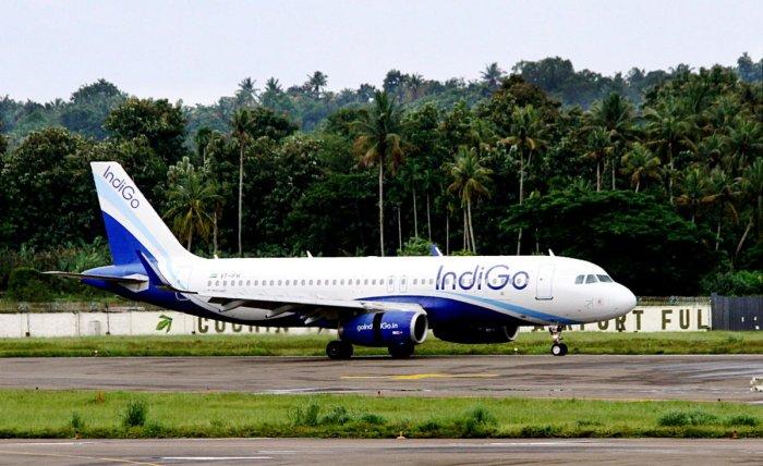 An Indigo flight arrives from Abu Dhabi at the Cochin International Airport, Sunday, August 11, 2019. (PTI Photo)
