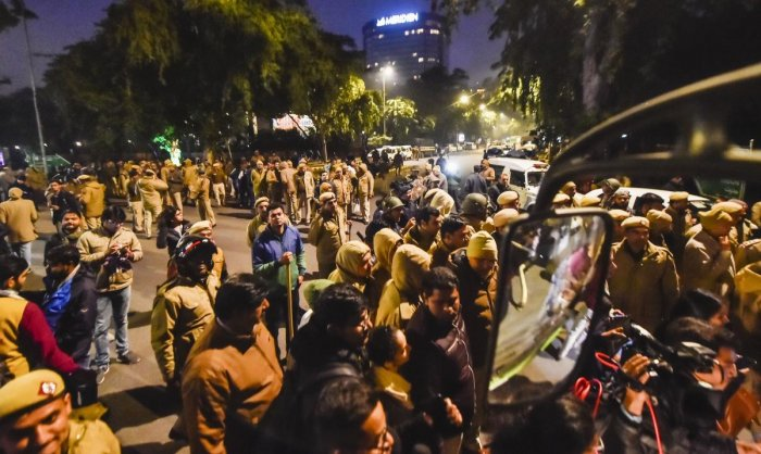 The JNU administration, in an FIR, had claimed that on January 3, a group of students wearing masks had forcibly entered the campus. (PTI file photo)