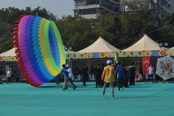 Kites at the Kite Festival in Ahmedabad. PHOTOS BY AUTHORS