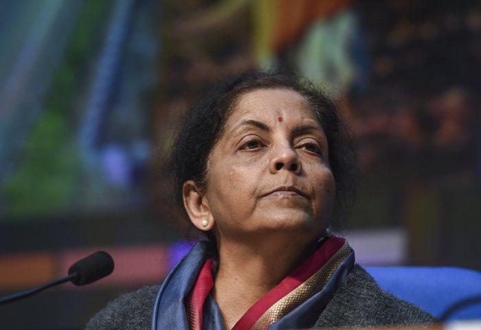 Financial Minister Nirmala Sitharaman. (PTI Photo)