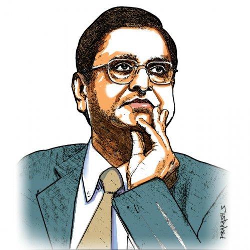 Former finance secretary Subhash Chandra Garg. (DH Photo)