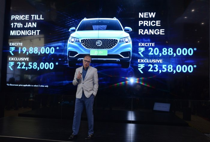 Rajeev Chaba, Managing Director and President, MG Motor India launches ZS EV at Rs 19.88 lakh