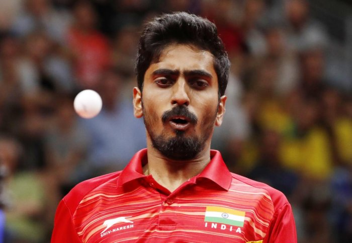 India's men's highest-ranked player G Sathiyan took some time adjusting to the pimpled rubber of Luka Mladenovic but other than that it was a straight forward tie for the fifth seeds who play 11th seeds Slovenia in the all-important round of 16 clash here on Friday. Credit: Reuters
