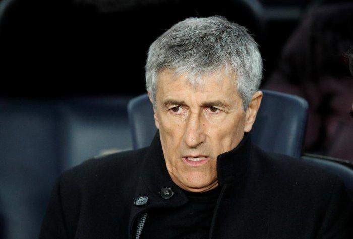 Barcelona coach Quique Setien. (Reuters photo)
