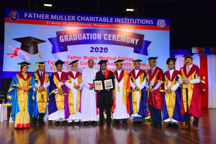 As many as 404 graduates of Father Muller Medical College, Father Muller College of Allied Health Sciences and Father Muller College of Speech and Hearing received their certificates at the glittering graduation ceremony organised at Father Muller Convent