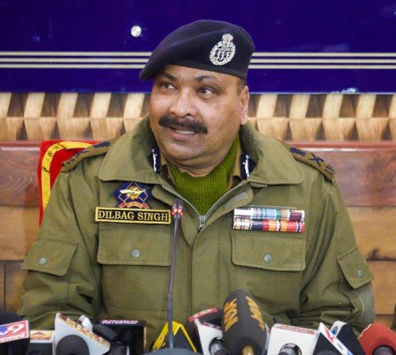 Director General of Jammu and Kashmir Police Dilbag Singh. (PTI Photo)