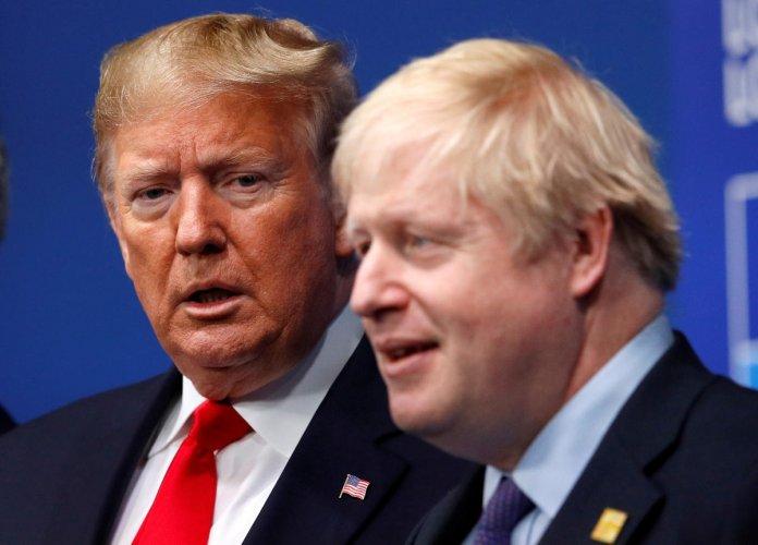 Britain's Prime Minister Boris Johnson and U.S. President Donald Trump. (Reuters photo)