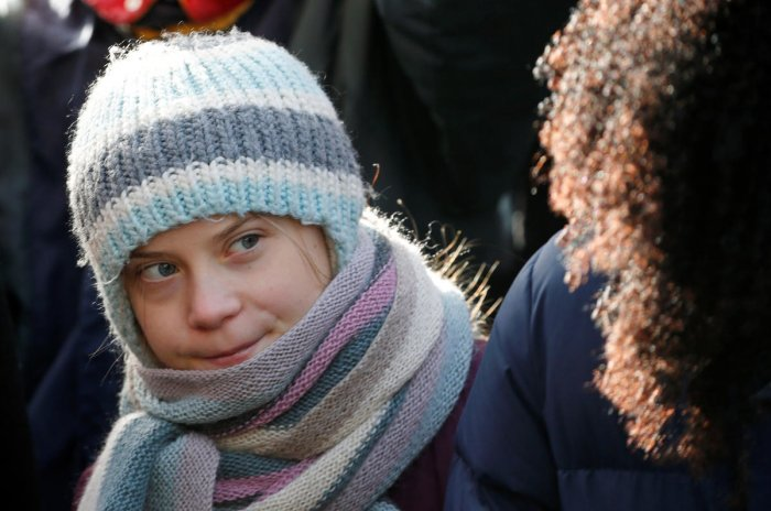 Greta Thunberg insisted that her priority was drawing attention and action to concerns about global warming.