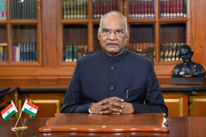 New Delhi: President Ram Nath Kovind addresses the nation on the eve of the Republic Day. RB/PTI