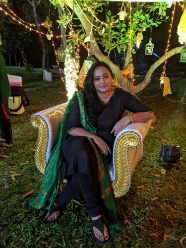 Anupama Kumar is a popular Tamil actress. (Credit: Shoba Sathish)