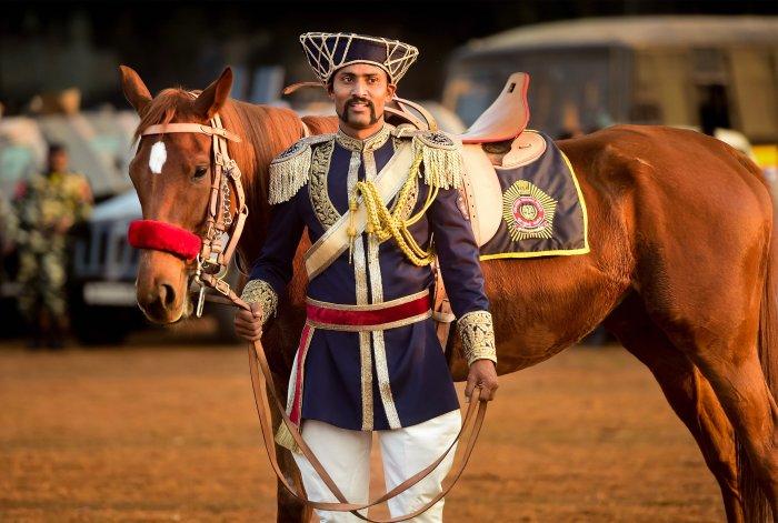 Mumbai's Mounted Police make a comeback with Manish Malhotra designed uniforms. (PTI Photo)