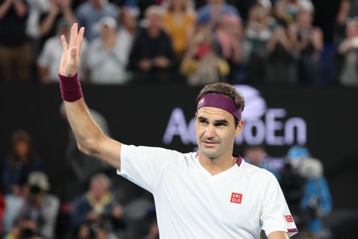 Roger Federer celebrates after victory against Hungary's Marton Fucsovics. (AFP Photo)