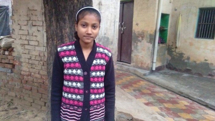 Anushka was also able to convince the parents of eight other children, all brick-kiln labourers like her, to get enrolled in the school.(DH Photo)