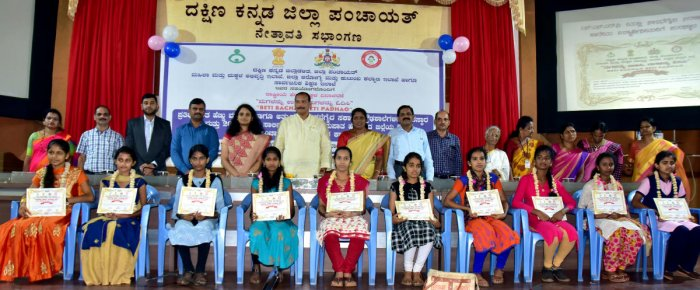 Students who have excelled in SSLC examinations were felicitated during National Girl Child Day programme organised at Nethravathi Hall in Mangaluru on Saturday.