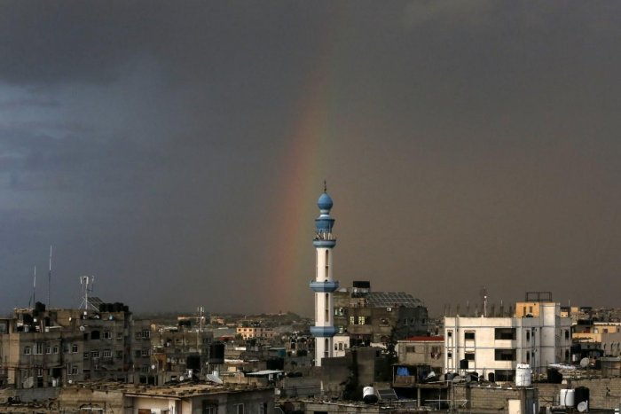 Among the targets was an arms factory, the army added, stressing that the air raids were in response to the launching of the incendiary balloons towards Israeli territory. Credit: AFP