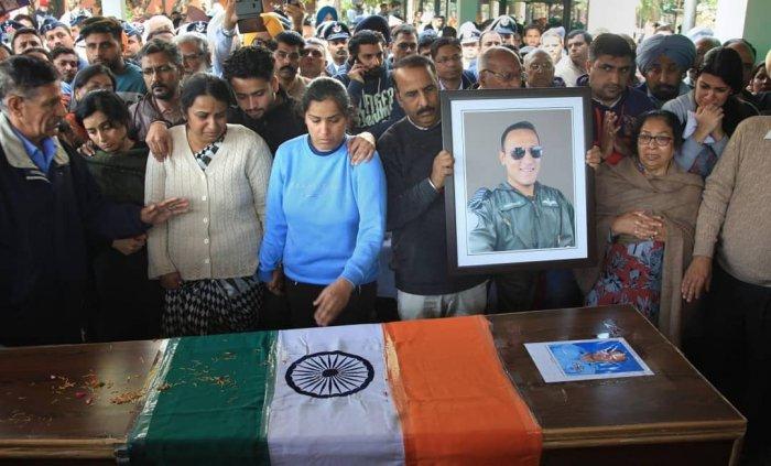 Squadron Leader Siddharth Vashisht's funeral in Chandigarh.