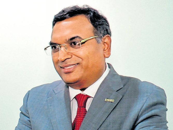 Aravind Melligeri, Chairman & CEO at Aequs Inc. (Photo: DH)