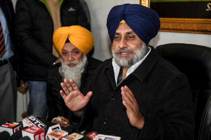 Shiromani Akali Dal (SAD) party President Sukhbir Singh Badal. (AFP Photo)