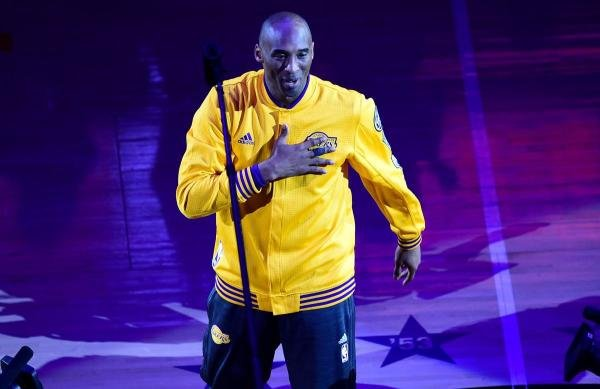 In this file photo taken on April 13, 2016 Kobe Bryant gestures as he takes the court for his last game for the Los Angeles Lakers against Utah Jazz in their season-ending NBA western division matchup in Los Angeles, California. (AFP Photo)