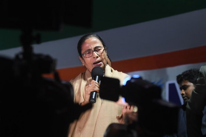 On Khadya Sathi Divas, Banerjee said that her government was also providing special assistance to the people of Jangalmahal, the Hills and Aila-affected areas besides, farmers of Singur, the Toto tribe and tea garden labourers. Credit: PTI Photo