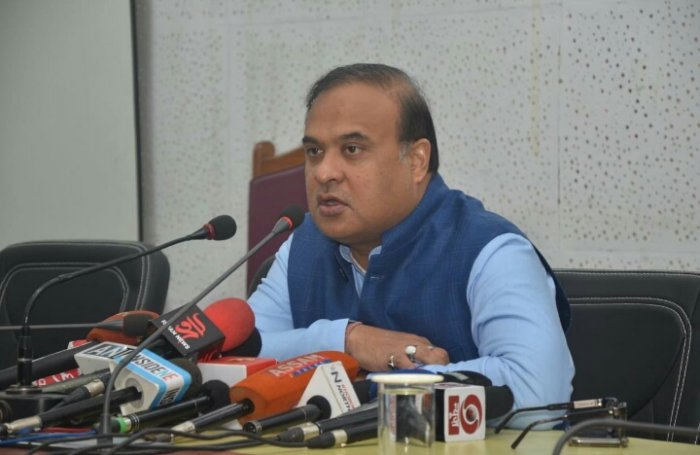 Assam minister Himanta Biswa Sarma in Guwahati on Tuesday. (DH photo)