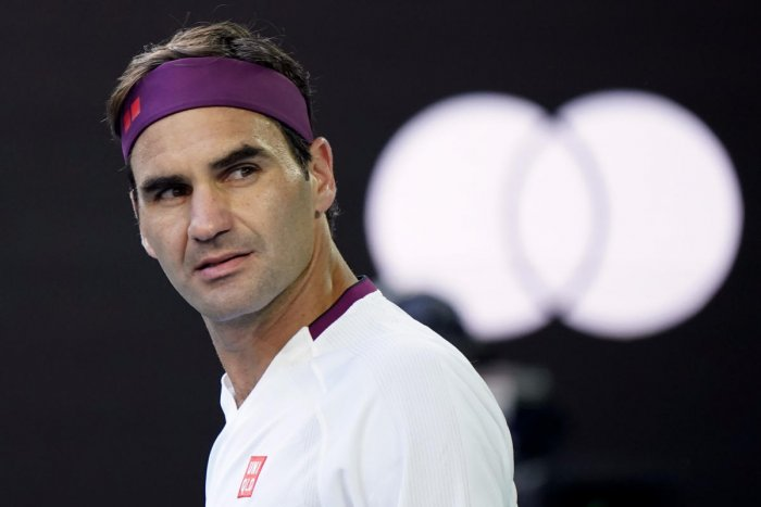 Roger Federer reacts after wining his match against Tennys Sandgren. (Reuters photo)