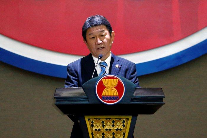 Japanese Foreign Minister Toshimitsu Motegi. (Photo credit: Reuters)