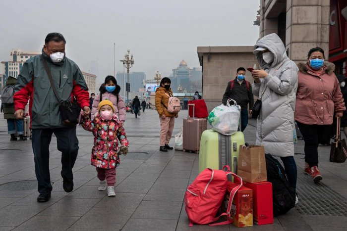 Wuhan and 12 other cities have been completely sealed by the Chinese authorities to stop the virus from spreading. (AFP Photo)